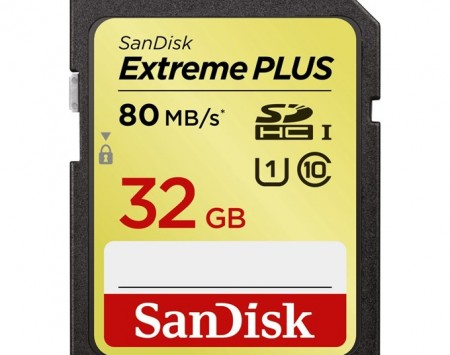 SanDisk Extreme Plus SDHC 32 GB 80 MBs class10, UHS-I