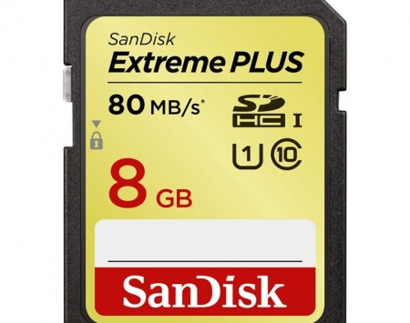 SanDisk Extreme Plus SDHC 8 GB 80 MBs class10, UHS-I