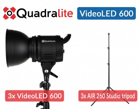 Quadralite VideoLED 600 set